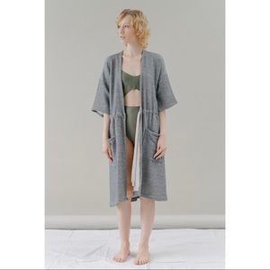REIFhaus Basik Gray Flux Lounge Cotton Robe